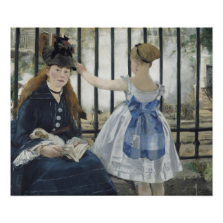 The Railway by Edouard Manet Poster