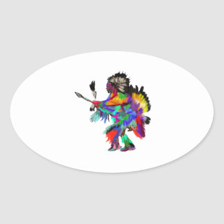 The Rain Dance Oval Sticker