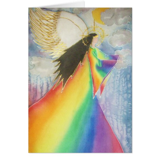 The Rainbow Angel Card