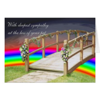 The rainbow bridge card