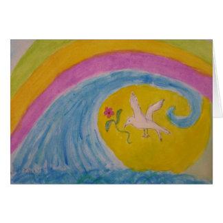 the rainbow card