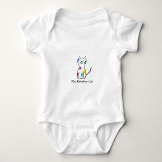 The Rainbow Cat Baby Bodysuit