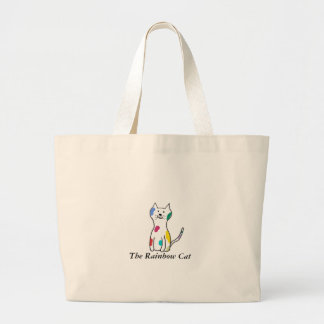 The Rainbow Cat Large Tote Bag