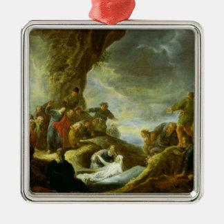 The Raising of Lazarus 3 Metal Ornament