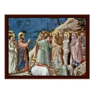 The Raising Of Lazarus By Giotto Di Bondone Postcard