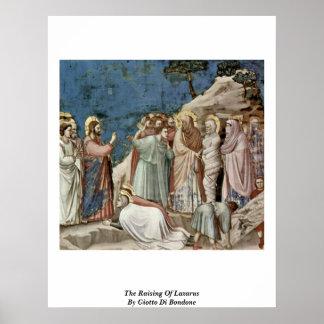 The Raising Of Lazarus, By Giotto Di Bondone Poster