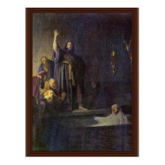 The Raising Of Lazarus. By Rembrandt Van Rijn Postcard