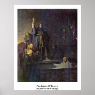 The Raising Of Lazarus By Rembrandt Van Rijn Poster