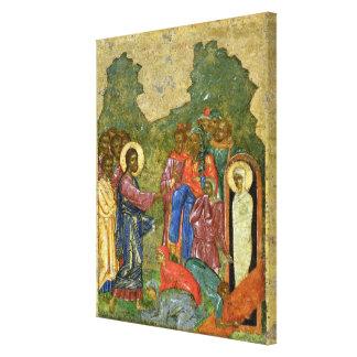 The Raising of Lazarus, Russian icon Canvas Print