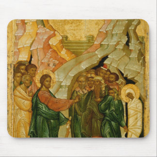 The Raising of Lazarus Russian icon Mousepads