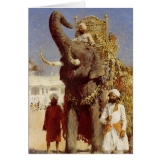 The Rajahs Elephant by Edwin Lord Weeks Card