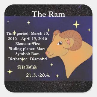The Ram, Aries Horoscope Zodiac Sign Sticker