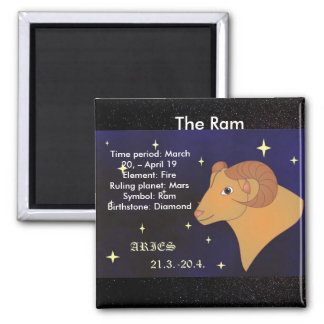 The Ram, Zodiac Sign for Aries, Horoscope Magnet