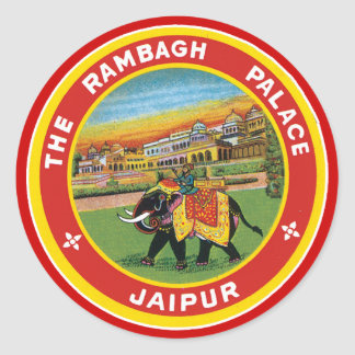 The Rambagh Palace Jaipur Classic Round Sticker