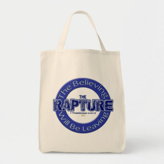 The Rapture Christian Religious Sayings Tote Bag