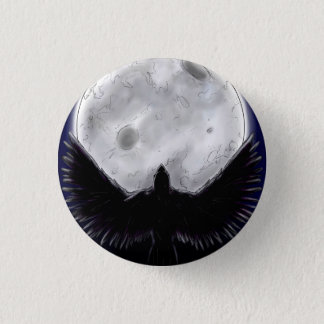The Raven 1 Inch Round Button