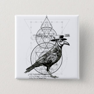 The Raven 2 Inch Square Button