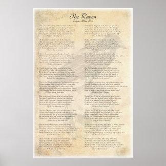 The Raven by Edgar Allen Poe Poster