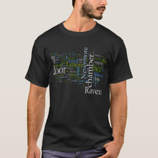 The Raven by Edgar Allen Poe Word Cloud T-Shirt