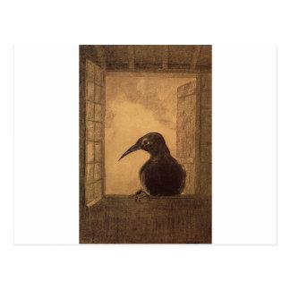 The Raven by Odilon Redon Postcard
