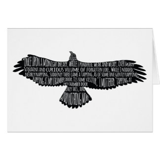 The Raven Edgar Allan Poe Typography Greeting Card