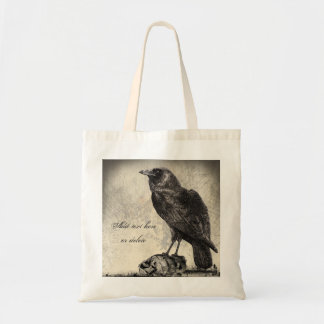 The Raven Gothic Horror Halloween Tote Bag