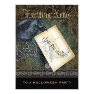 The Raven Gothic Style Invitation