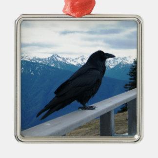 The Raven Metal Ornament