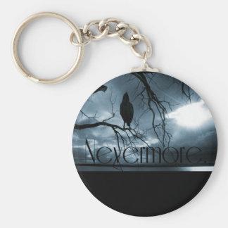 The Raven - Nevermore Sunbeams & Tree Blue Keychain