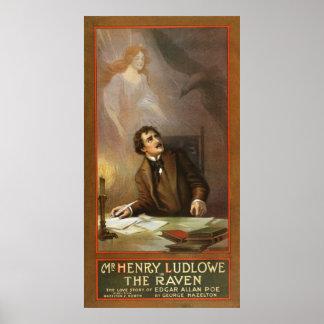 The Raven Vintage Poster