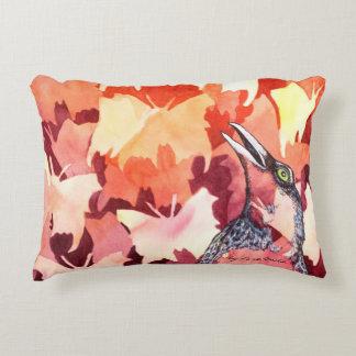 The ravens startles the butterflies decorative pillow