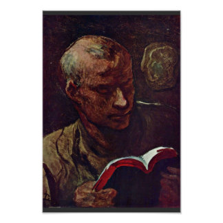 The Reader By Daumier Honoré Poster