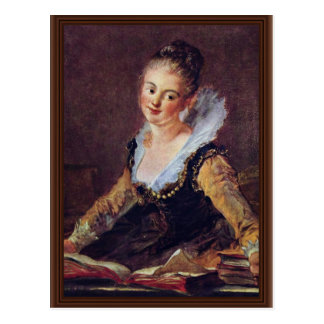 The Reader By Fragonard Jean-Honoré (Best Quality) Postcard