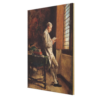 The Reader in White, 1857 Canvas Print