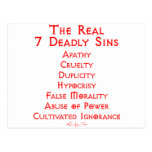 The REAL 7 Deadly Sins Post Cards