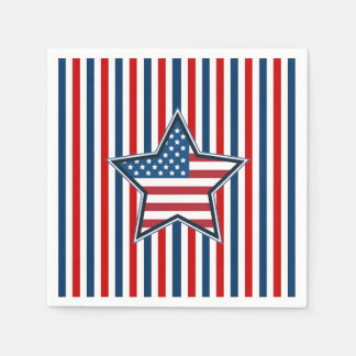 The Real Deal Veterans Day Party Paper Napkins
