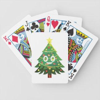 The real Emoji Christmas tree Bicycle Playing Cards