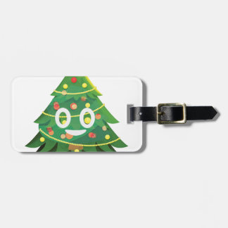 The real Emoji Christmas tree Luggage Tag