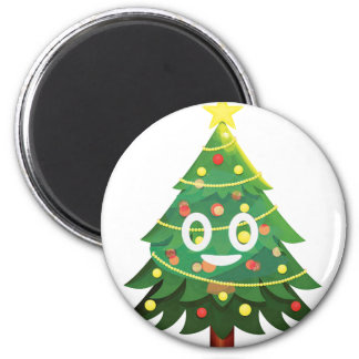 The real Emoji Christmas tree Magnet