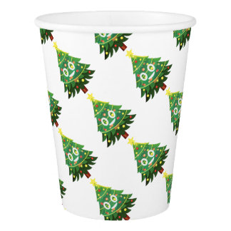 The real Emoji Christmas tree Paper Cup