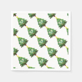The real Emoji Christmas tree Paper Napkin
