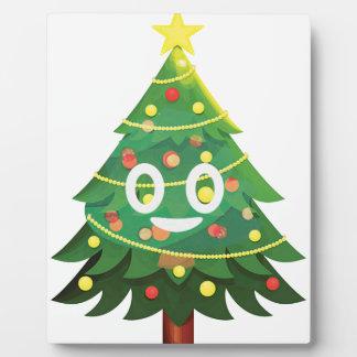 The real Emoji Christmas tree Plaque