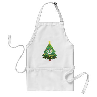 The real Emoji Christmas tree Standard Apron