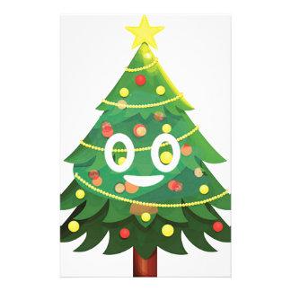 The real Emoji Christmas tree Stationery