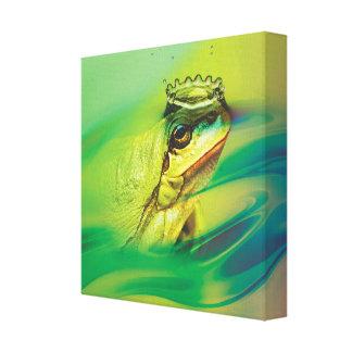 The real Frog Prince Canvas Print