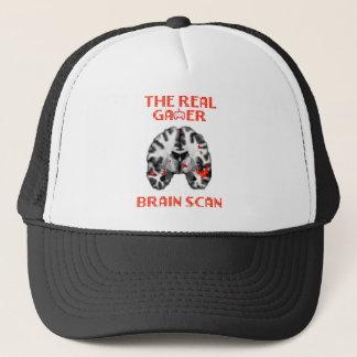 The real gamer brain scan t-shirt trucker hat
