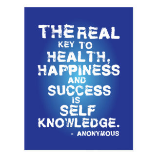 The real key to health, happiness and success... postcard