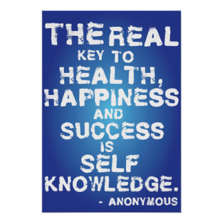 The real key to health, happiness and success... poster