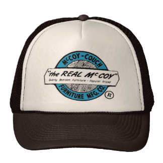 """""""The Real McCoy""""  McCoy Couch Furniture MFG CO. Trucker Hat"""