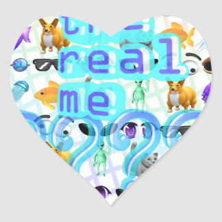The Real Me Heart Sticker